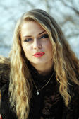 Young blond woman — Stockfoto
