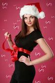 Weihnachten mädchen in seifenblasen — Stockfoto