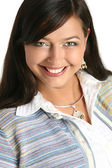 Portrait of a beautiful smiling woman — Foto Stock