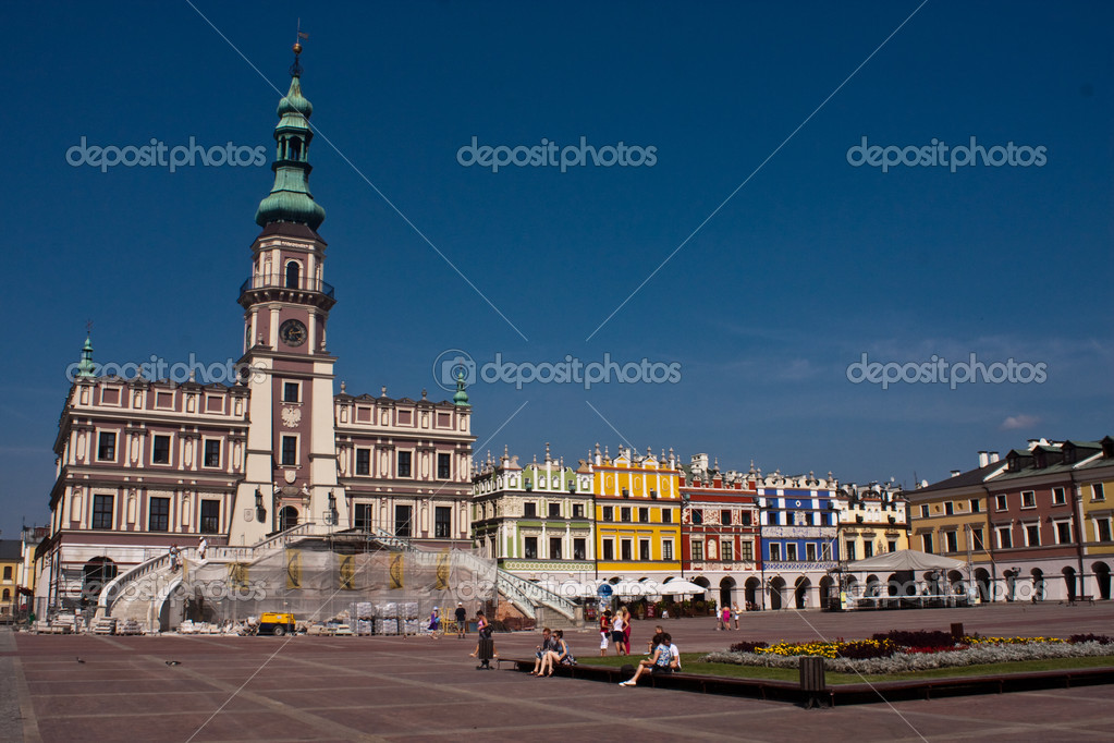 Zamosc Poland  city photo : Zamosc Unesco Old Town in Poland — Stock Photo © wolszczak #4458230