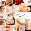 Stock Photo: Fashion collage