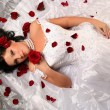 With red roses — Stock Photo