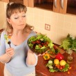 Woman with pepper — Stock Photo #5249579