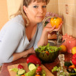 Woman with pepper — Stock Photo