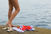 Nude foot girl — Stock Photo