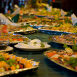 Served banquet table - Stok fotoraf