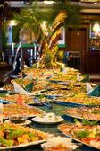 Served banquet table — Stok fotoğraf
