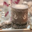 Big wedding candle — Stock Photo #3958597