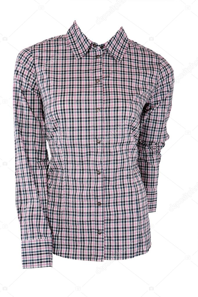 Male shirt isolated on white — Stock Photo #4475107
