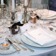 impostazione elegante tavolo — Foto Stock
