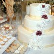 Three tiered wedding cake — Stock Photo #4909202
