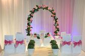 Miniature wedding scene — Stock Photo