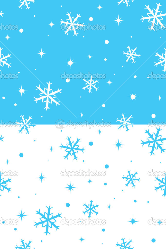 Two vector seamless textures with snowflakes — Stock Vector #4070427