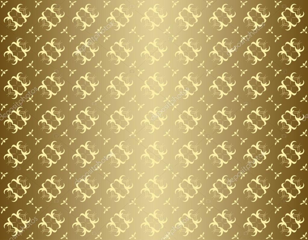 Vector Seamless Golden Texture
