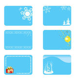 Vector blue christmas cards with decorations — Stock Vector