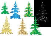 Set vector creativo de árboles de navidad — Vector de stock
