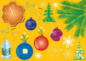 Set of vector christmas elements for design — Stock Vector