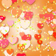 Bright color background with hearts — Stock Photo