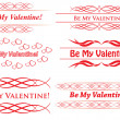 Stock Vector: Vector elements for design - be my valentine