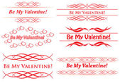 Vector elements for design - be my valentine — Stock Vector