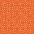 Vector bright orange seamless pattern — Stock Vector