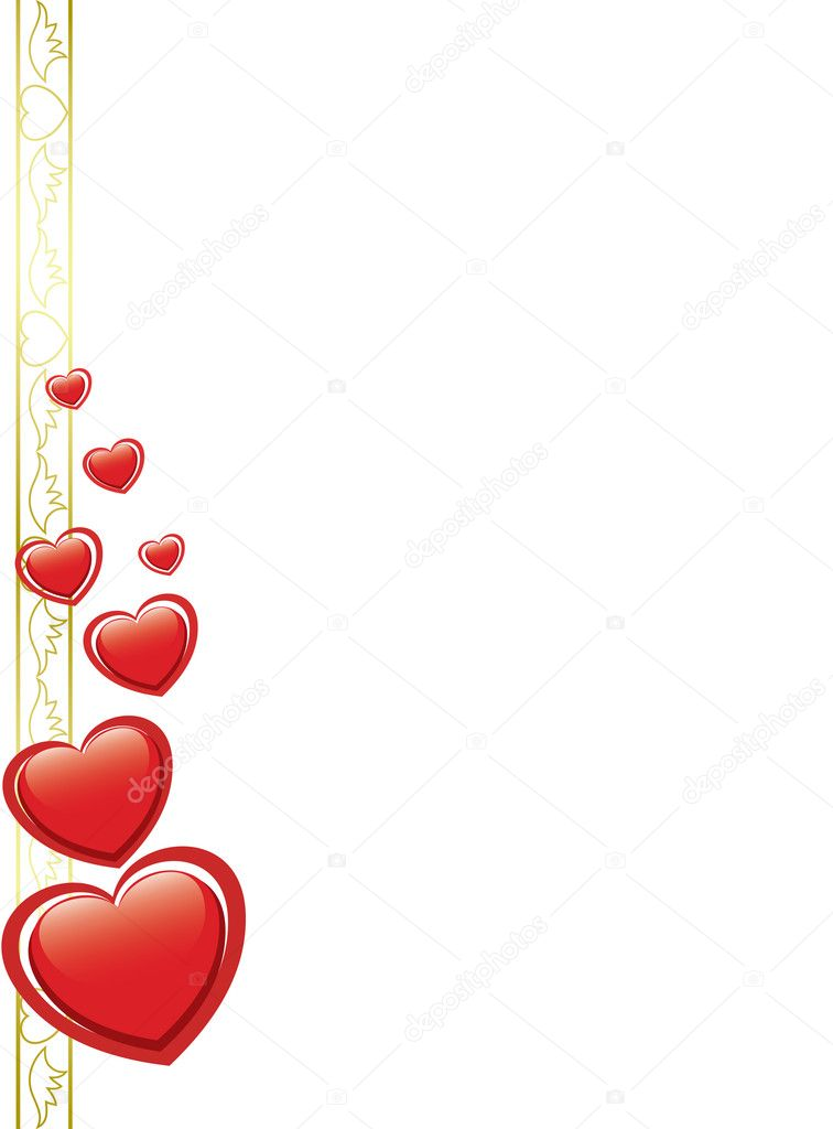 Vector white card with hearts — Stock Vector #4855528