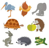 Set of vector small animals — Stock Vector