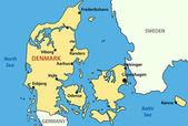 Vector map of Denmark — Stock Vector