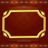 Vector decorative frame with golden pattern — Stock Vector