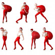 Collection of santa's helper — Stock Photo