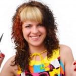 Woman with scissors — Stock Photo #4532716