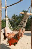 Woman in hammock — Stock Photo