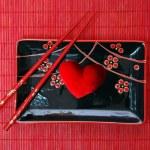 Ceramics kitchen utensils and heart — Stock Photo #4663003