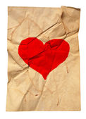 Paper with fracture and heart — Stock Photo