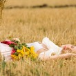 Woman in field — Stock Photo #4901205