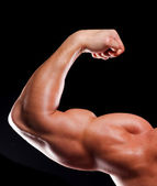 Hand of bodybuilder — Stock Photo
