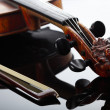 Violin and bow on dark background - Foto de Stock  