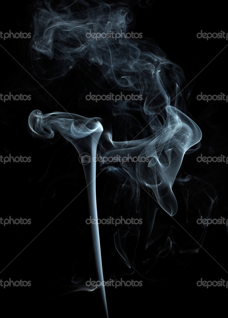 White smoke on black background — Stock Photo © silverjohn ...