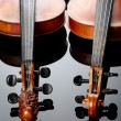 Two violins on dark background — Stock Photo #4117977