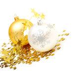 Christmas balls and decorations — Stock Photo