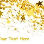 Złote gwiazdy na białym tle — Zdjęcie stockowe