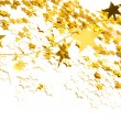 Golden stars isolated on white background - Stock Photo