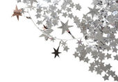 Silver stars isolated on white background — Stock Photo