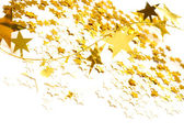 Golden stars isolated on white background — Stock Photo