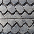Texture of the old worn-out black car tire - Stock Photo