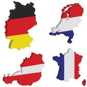 Germany, Dutch, France, Austria — Stock Photo