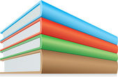 Heap of books — ストックベクタ
