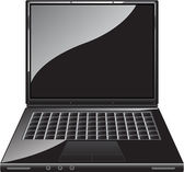 Bärbar dator — Stockvektor