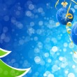Winter and Christmas background — Imagen vectorial