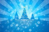 Winter Christmas trees — Stock Vector